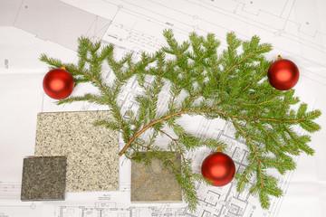 Weihnachtskarte - Weihnachten im Planungsbüro