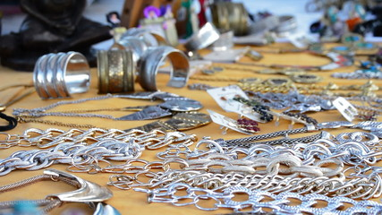 Jewelry in hawker stall craft panoramic