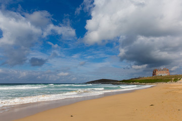 Fistral beach Newquay North Cornwall England UK