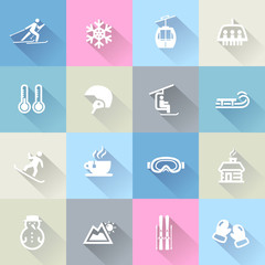 Winter Icons in Flat Design