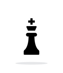 Chess King simple icon on white background.