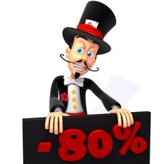 Magician christmas sale 80 percent discount