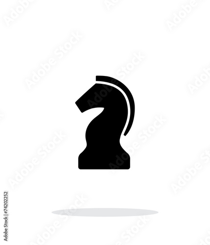 Chess Knight simple icon on white background. - 74202252