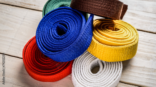Foto op Canvas Vechtsport karate belts