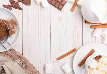 Hot cocoa. Frame.