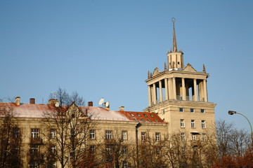 Stalinist architecture building
