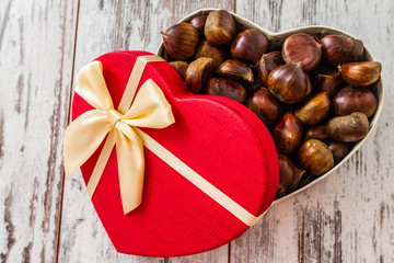 Heart Shaped Fresh Chestnuts