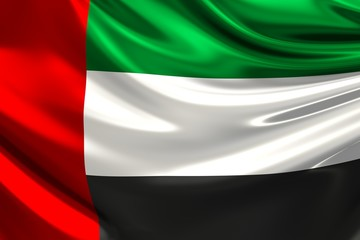 Flag of the United Arab Emirates.