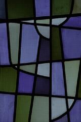 Glasmosaik in den Fraben blau, grün und grau