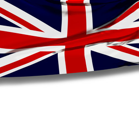 Flag of the United Kingdom (Union Jack) with empty space.