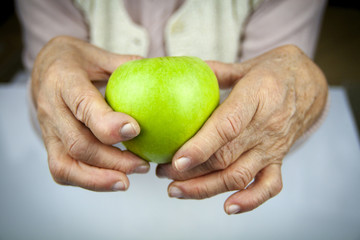 Rheumatoid arthritis hands and fruits