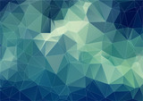 Composition with triangles geometric shapes