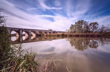 Longest bridge in Aranjuez. Spain