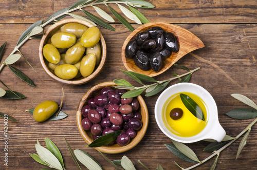 Plagát, Obraz olio e olive assortite