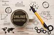 Leinwanddruck Bild - Online Marketing