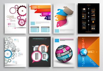 Set of Flyer Design, Infographics. Brochure Designs