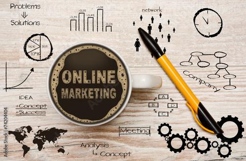 Leinwanddruck Bild Online Marketing