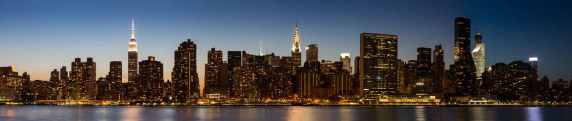 New York Midtown Skyline at Dusk