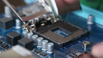 installing the CPU on the motherboard