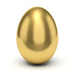 Golden egg. Smooth surface. - 74205049