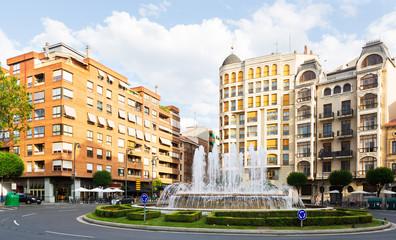 Plaza Alferez Provisional with fontain in Logrono