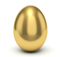 Golden egg. Smooth surface.