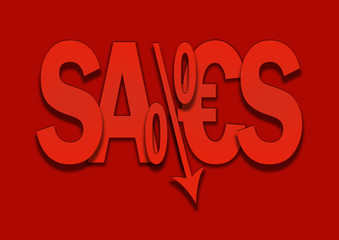 sales bargain lower percent price goes down
