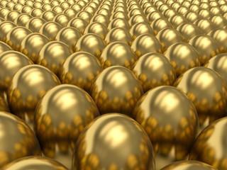 Golden eggs. 3d render illustration.