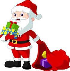 Santa Claus and christmas gifts