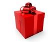 Leinwanddruck Bild - Red gift box.