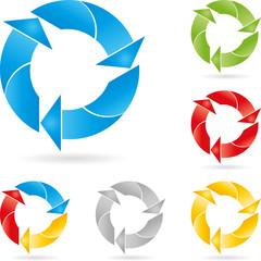 Recycling Zeichen, Logo, Pfeile, Eco