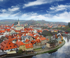 View on Czech Krumlov