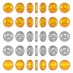 Dollar coins rotation