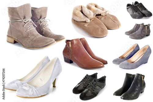 canvas print picture group of shoes
