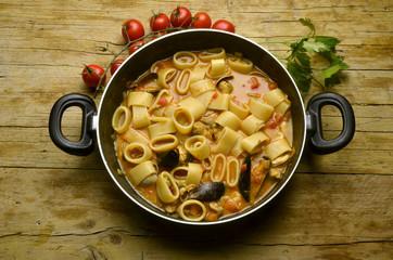 Calamarata con seafood Cucina italiana Expo Milano 2015