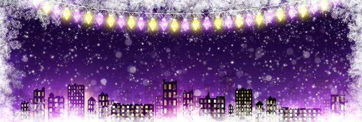 Night holiday city