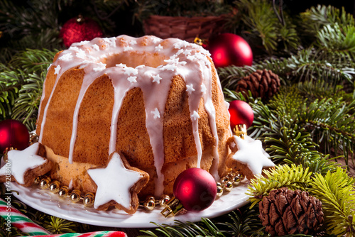 canvas print picture christmas madeira cake