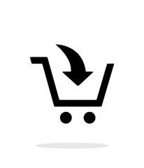 Add to shopping cart simple icon on white background.