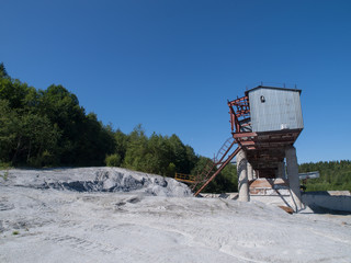 marble quarrying in the summer