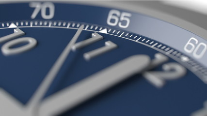 Time is running out extreme closeup