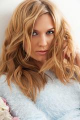 Attractive blond woman portrait