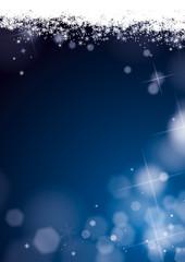 fond flocons de neige paillettes bleu nuit kazy