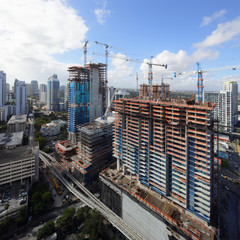 Brickell city center construction site