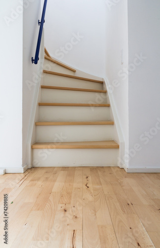 Deurstickers Trappen Modern stair of wood