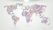 job search worldwide with a map on the background