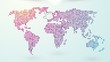 job search worldwide with a map on the background endless loop