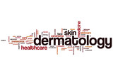 Dermatology word cloud poster