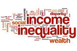 Income inequality word cloud poster