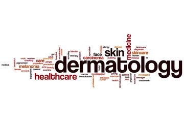 Dermatology word cloud