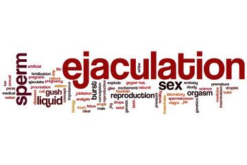 Ejaculation word cloud